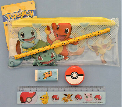 Pokemon Trousse + Set d'écriture Pokemon neuf
