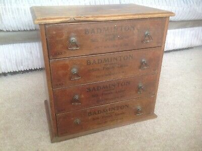 Antique Miniature Chest Of Drawers, 1900, Badminton Boot Shoe Lace Cabinet.