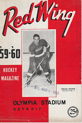 1960 DETROIT RED WINGS v MONTREAL CANADIENS PROGRAM(ME) (8/3/60)