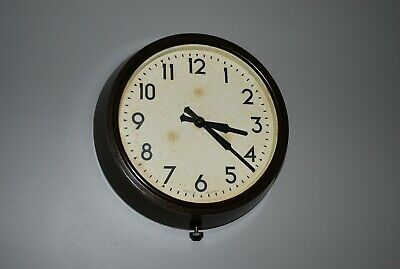 Vintage Smiths Bakelite School / Industrial Wall clock 8 Day Movement.