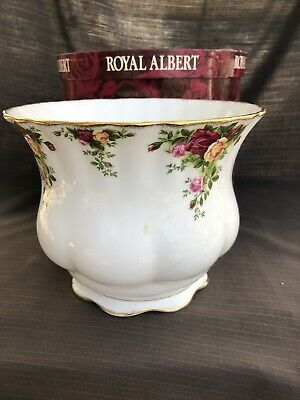 ROYAL ALBERT OLD COUNTRY ROSE LOVELY VERY LARGE  SIZE PLANTER 22 X 16 Cm Boxed