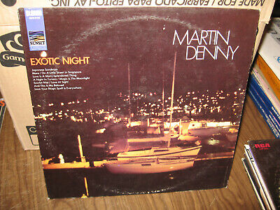 Martin Denny Lp Album Vinyl Exotic Night Sunset Liberty Records Sus-5199 Stereo