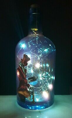 The king of SOHO Gin Bottle LED lamp with Lights décor/wedding/gifts/upcycle