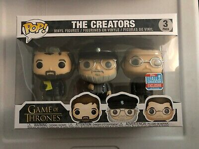 Funko Pop! HBO Game of Thrones THE CREATORS 3 Pack Vinyl Convention Exclusive