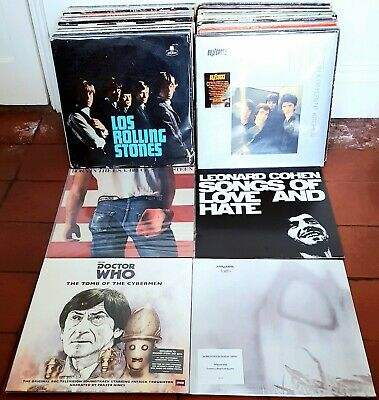 200 x VINYL LP RECORD ALBUMS Job Lot - Rock Punk Soul - Some New LISTED & GRADED
