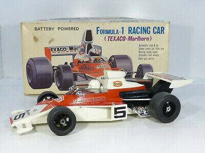 Alps McLaren M23 F1 Racing Car Blech Auto Tin Toy 70er Jahre Japan in Box 32cm
