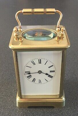 Very High Quality Fully Serviced Brass Cased Large Carriage Clock