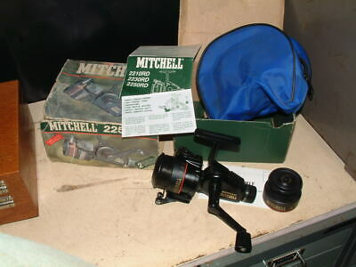 VINTAGE MITCHELL 2250 RD FISHING REEL  Box, Leaflet, Spare Spool & Case Exc Cond