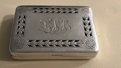 Antique Reed & Barton Sterling Silver Vinaigrette Case Box Snuff Match Hallmark