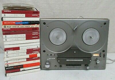 Vintage Tandberg Model 64 4 Track Reel To Reel Player Works! + 22 Reels Tandberg