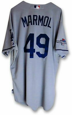 4e8bafd0f Carlos Marmol Team Issued Jersey LA Dodgers Road 2013 Playoff  49 MLB Holo