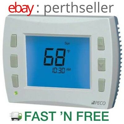 PECO T4932SCH-001 THERMOSTAT, 7 Day Programmable, Stages 3