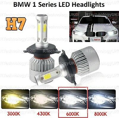 Premium Bmw 1 Series F20 F21 H7 Led Ice White Headlights Dipped Beam 72W 6000K