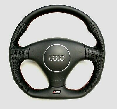 Flat Bottom Steering Wheel Audi Rs4 B5  S4 B6 ! Smooth And Perforated Leather