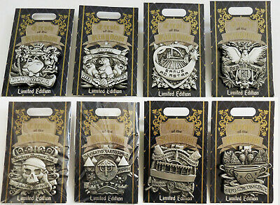 Disney Collector Pins Crests of the Kingdom LE 2019 Disneyland U Choose from 8