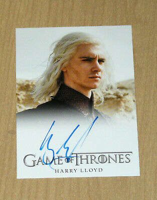 2012 Rittenhouse Game of Thrones Season 1 autograph auto Harry Lloyd as VISERYS