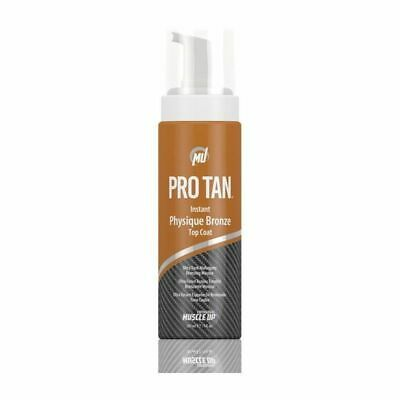 Pro Tan Instant Physique Bronze Top Coat with buffer ultra dark for competition