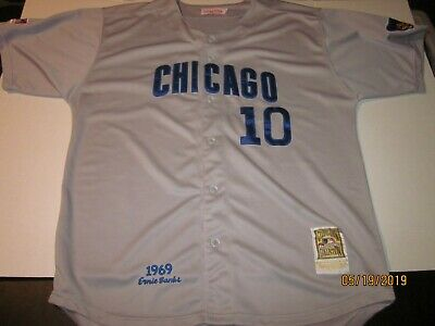 b6723a296 Ron Santo Chicago Cubs Mitchell and Ness Jersey with Ernie Banks Patch  Adult 52