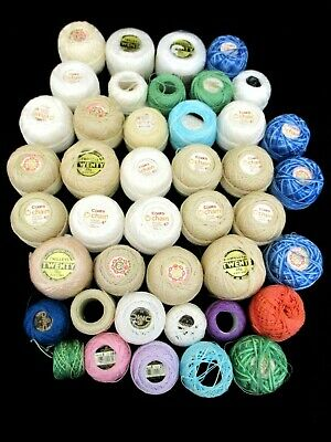 ~COATS/OTHER CHAIN MERCER CROCHET COTTON x 42+ NEW & PARTIAL BALLS - COLOURED~