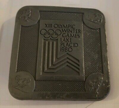 Vintage 1980 Olympic Winter Games Lake Placid XIII Belt Buckle