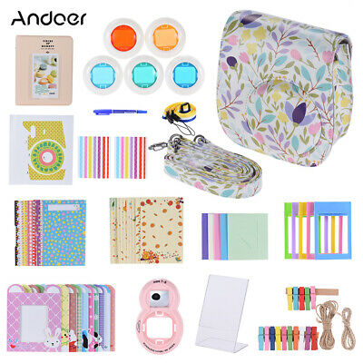 Andoer 14 in 1 Accessories Kit for Fujifilm Instax Mini 8/8+/8s/9 w/ Camera R4P6
