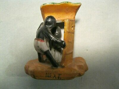VINTAGE BLACK AMERICANA CERAMIC OUTHOUSE  'NEXT'  MADE in OCCUPIED JAPAN