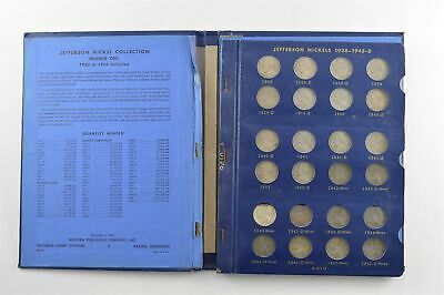 COMPLETE 1938-63 Jefferson Nickels Collection SILVER War 1950-D Nice Album *685