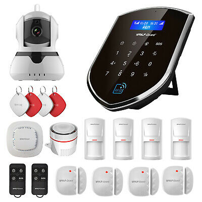 Wolf-Guard WIFI GSM App Control + IP Camera Standard Kit for Home Alarm System