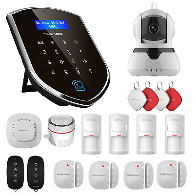 Wolf-Guard Home Security Alarm System WIFI 3G Host 720P IP Camera Standard Kit