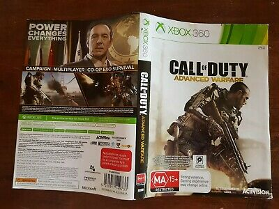 CALL OF DUTY Advanced Warfare Face Cover Case Slip Insert only for Xbox 360 game