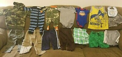 LOT of 15 Boys baby clothes Newborn, 3, 6,  9, 12,18 months New FREE SHIPPING