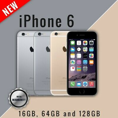 New Apple iPhone 6 16GB 64GB 128GB Smartphone Unlocked 4G LTE Mobile Warranty