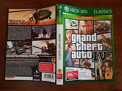 Grand Theft Auto IV Face Cover Case Slip Insert only for Xbox 360 game