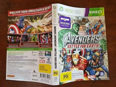 Avengers Battle for Earth Face Cover Case Slip Insert only Replacement Xbox 360