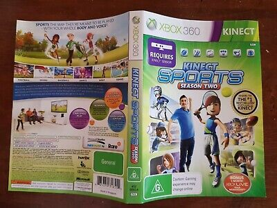 Kinect Sports Season 2 Face Cover Case Slip Insert only for Xbox 360 game