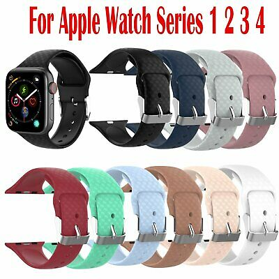 38MM/42MM Bande Sangle iwatch Bracelet Silicone Pour Apple Watch Series 1 2 3 4