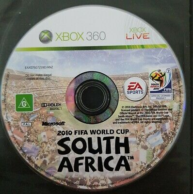 2010 Fifa South Africa Cup Face Cover Case Slip Insert only for Xbox 360 game
