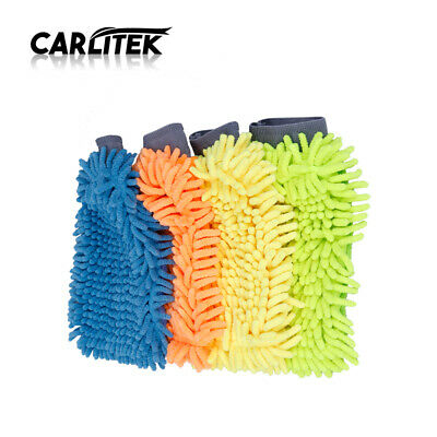 Car Wash Washing Super Microfiber Chenille Mitt Auto Cleaning Glove Dust Washer
