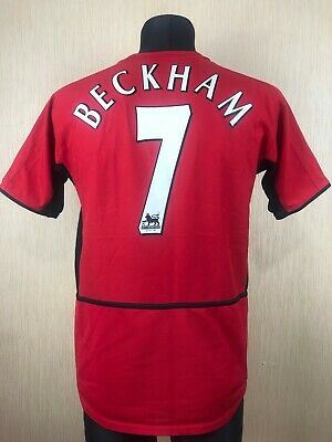 153e594b688 Manchester United 2002 2004 Beckham Home Football Soccer Jersey Boys Nike Xl