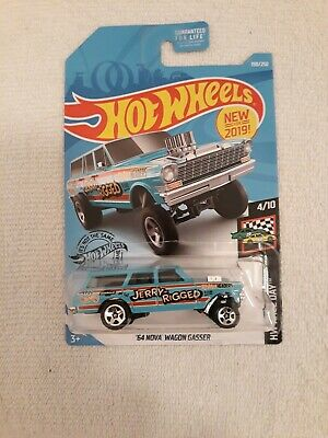 2019 Hot Wheels HW Race Day. 64 Nova Wagon Gasser. Jerry Rigged. K Case. H.T.F.