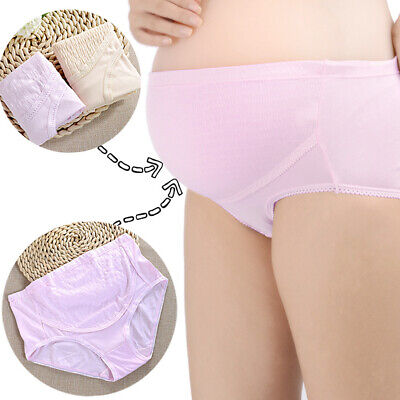 Qa_ Pregnant Women Adjustable Cotton Maternity High Waist Briefs Underpants Ni