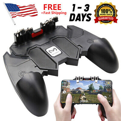 Mobile Controller Key AK66 Fire Button 6 Joystick Finger Gamepad Game PUBG Video