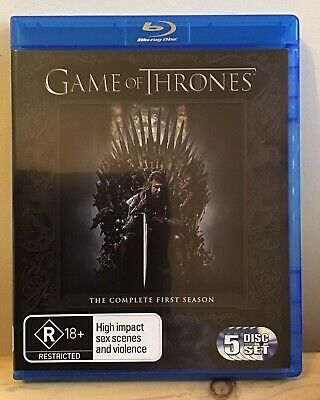 Game Of Thrones : Season 1 (Blu-ray, 2012, 5-Disc Set) *Very Good*