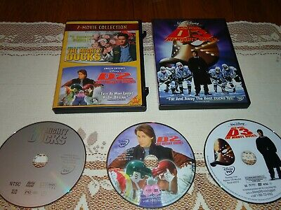 The Mighty Ducks COMPLETE Trilogy 1 2 3 Set (DVD, 3-Disc Set) Emilio Estevez