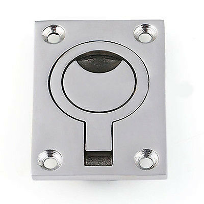 Marine Stainless Steel Flush Mount Pull Ring Hatch Latch Handle Boat Nice #AM8