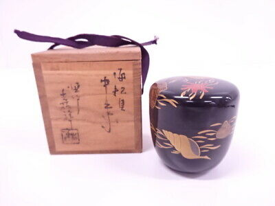 4170536: Japanese Tea Ceremony / Lacquered Tea Caddy Shell  Natsume
