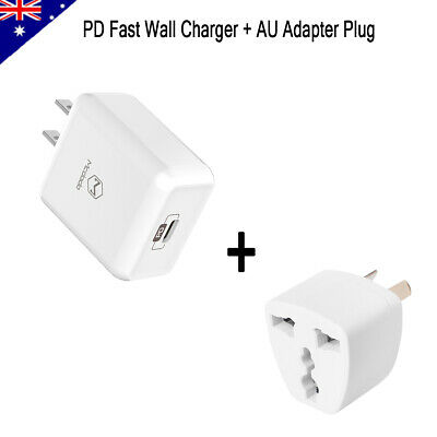 Mcdodo PD Fast Wall Charger Adapter + AU Plug for Android iPhone Cellphone