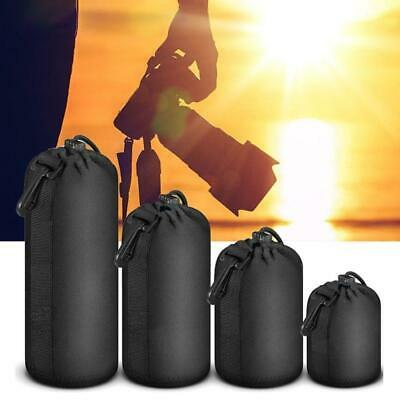 1x Neoprene Camera Lens Pouch Soft Bag Case Protector For Canon Nikon Sony DSLR