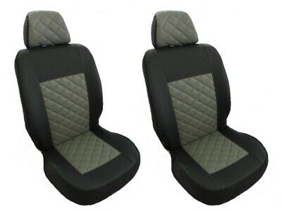 Seat Covers 1+1 PEUGEOT BOXER,CITROEN JUMPER/RELAY,FIAT DUCATO GREY Eco Leather