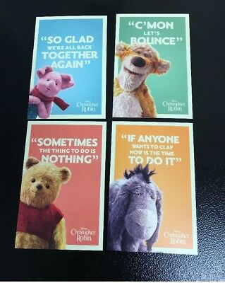 Christopher Robin Odeon Exclusive Postcards Set of 4 Sealed Winnie the Pooh